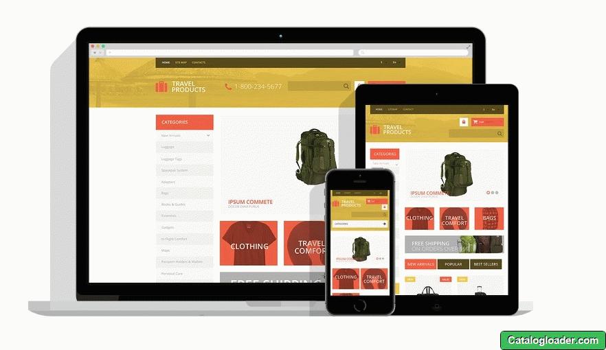Бесплатная тема для PrestaShop - Travel Products Store