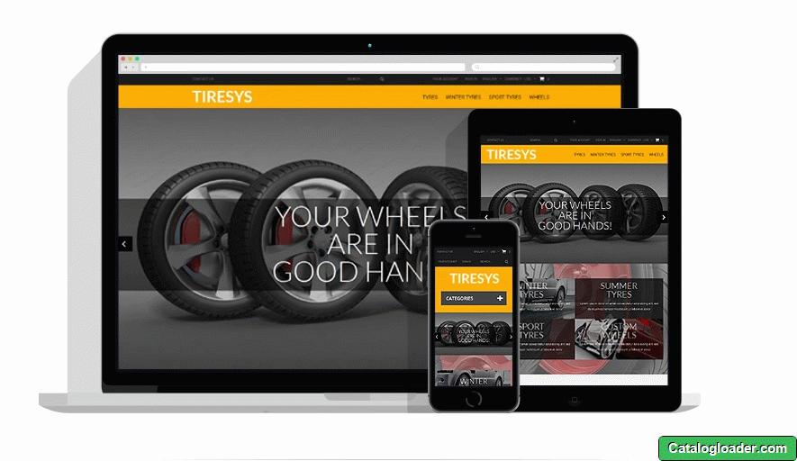 Бесплатная тема для PrestaShop - Wheels & Tires