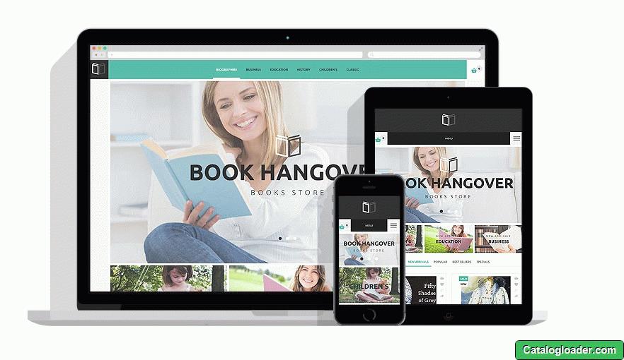 Бесплатная тема для PrestaShop - Book Website
