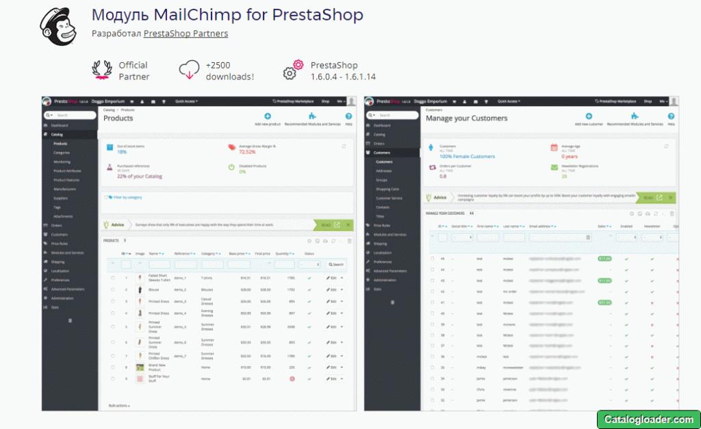 Модуль MailChimp
