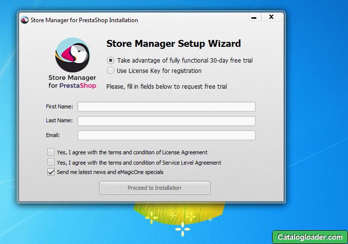 Регистрация Store Manager